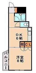 ベルエール片江[2階]の間取り