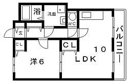 ピュアコート2[2階]の間取り