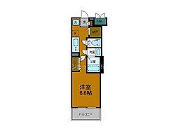 Osaka Metro御堂筋線 大国町駅 徒歩1分の賃貸マンション 4階1Kの間取り