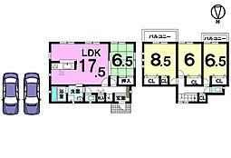 土地面積51.61坪、全居室南向きです。学校・幼稚園・スーパー・病院など全て徒歩圏内の便利な立地です。