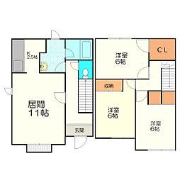 新札幌タウンハウスC[1号室]の間取り