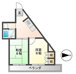 松田屋ハイツ[2階]の間取り