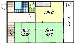 豊国ビル[4階]の間取り