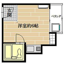 山田ビル[6C号室]の間取り