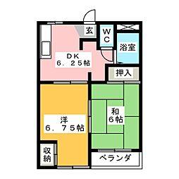 パレス東栄[3階]の間取り