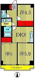 メゾンドベール早稲田I[5階]の間取り