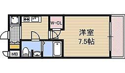 アクロス福島アーバンヒルズ 6階1Kの間取り