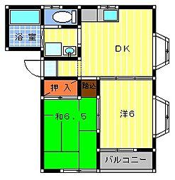 コスモガーデン[2階]の間取り