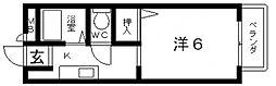 メゾンクレールS[A202号室号室]の間取り