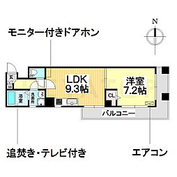 愛知県名古屋市南区呼続4丁目の賃貸マンションの間取り