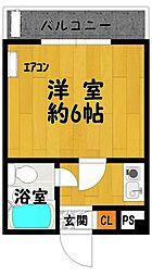 HS北野田 3階1Kの間取り