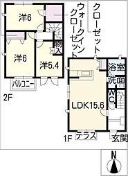 [タウンハウス] 愛知県春日井市六軒屋町2丁目 の賃貸【/】の間取り