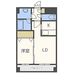 KGスクエアS6[12階]の間取り