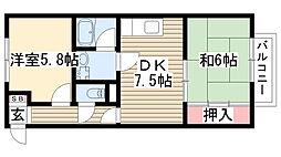 愛知県尾張旭市桜ケ丘町2丁目の賃貸アパートの間取り