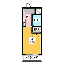 ドール滝子[4階]の間取り