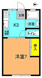 笹尾第10ハイツ[105号室]の間取り