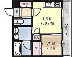 プルミエ京口[0301号室]の間取り