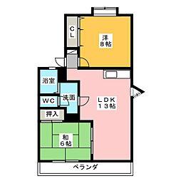 EZヒルズ[2階]の間取り