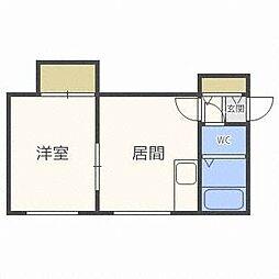 北海道札幌市東区北十五条東18丁目の賃貸アパートの間取り