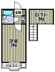 ヨーロピアン千代田[2階]の間取り