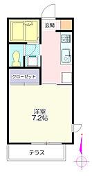 プラム西浦[1階]の間取り