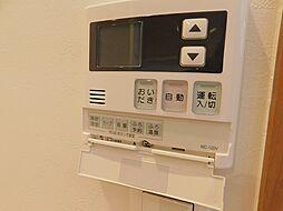 給湯器操作パネル。浴槽の追い焚き等の操作が出来ます。