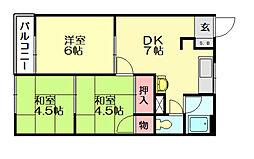 中村ビル[5階]の間取り