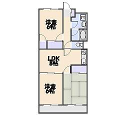 サンライズマンション[401号室]の間取り