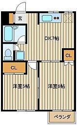 東京都練馬区東大泉7の賃貸アパートの間取り