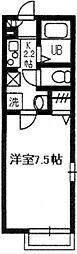 千葉県柏市今谷上町の賃貸アパートの間取り