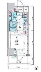 東京メトロ千代田線 綾瀬駅 徒歩10分の賃貸マンション 10階1Kの間取り