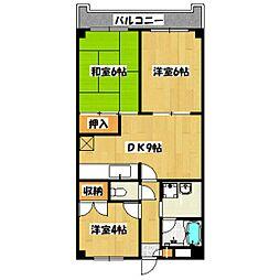 東京都世田谷区北烏山1丁目の賃貸マンションの間取り
