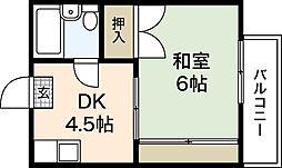 広島県広島市佐伯区三宅4丁目の賃貸アパートの間取り