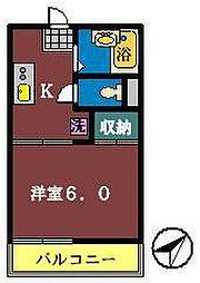 フォーブル幕張1・2[1-107号室]の間取り