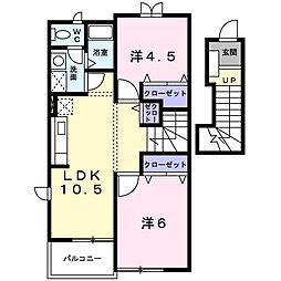 エクセレンテI[2階]の間取り