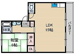 パルハイム A棟[2階]の間取り