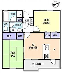千葉県佐倉市西志津2丁目の賃貸マンションの間取り
