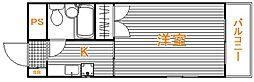 東京都板橋区大和町の賃貸マンションの間取り