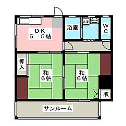[一戸建] 愛知県豊明市二村台1丁目 の賃貸【/】の間取り