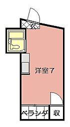内山第27ビル[902号室]の間取り