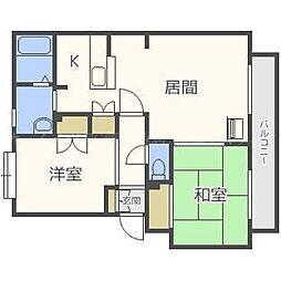 パークハイツA[1階]の間取り