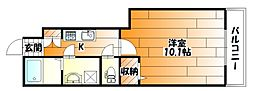 JR可部線 安芸長束駅 徒歩2分の賃貸アパート 1階1Kの間取り