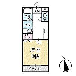パーシモンガーデン 1階[103号室]の間取り