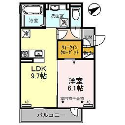 ラ メゾン ド ボヌール 桜塚 A[301号室]の間取り