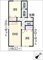 セジュール鳴丘[2階]の間取り