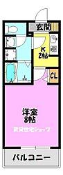 クレスト舎利寺[2階]の間取り