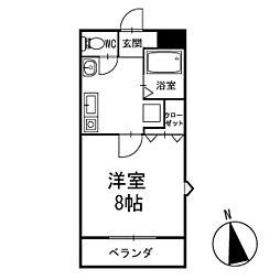 ホワイト東山 2階[201号室]の間取り