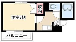 愛知県名古屋市瑞穂区田光町3丁目の賃貸マンションの間取り