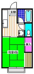 ファミーユ 2階1Kの間取り
