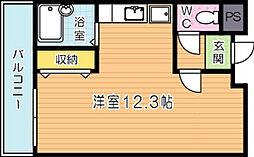 第Ⅲコーポあけみ[402号室]の間取り